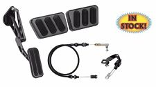 64-68 Mustang Midnight Black Pedal Kit for Manual Trans Cars - XBAG-6115