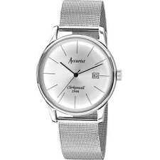 Accurist Vintage Clerkenwell 1946 Silver Mesh Bracelet Gents Mens Watch MB1034S