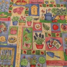 Cotton Fabric Garden Collage SPRING pastel Fabric Traditions BTHY half yard