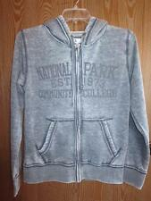 NEW- NATIONAL PARK COMMUNITY COLLEGE WOMENS S SMALL J.AMERICA GRAY HOODIE-JACKET