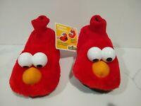 Elmo Toddler Boys/Girls Slippers Plush House Shoes - 7/8, 9/10 Red Puppet Sock
