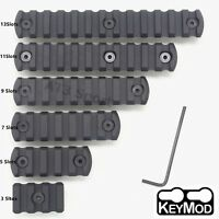 Black 3/5/7/9/11/13 Slot Picatinny Weaver Rail Section Segment Mount Fit Keymod