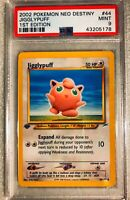 Jigglypuff 44/105 1st Edition PSA MT 9 Neo Destiny Non-Holo Pokemon Card MT