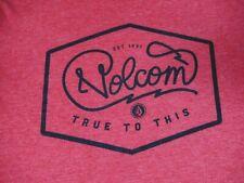 VOLCOM STONE TRUE TO THIS EST. 1991 SOFT QUALITY -RED MEDIUM T-SHIRT-D1796