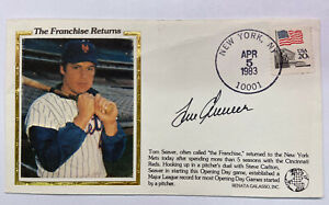 TOM SEAVER AUTO THE FRANCHISE RETURNS First Day Cover Signed