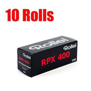 10 Rolls Rollei RPX400 120 Middle Format Black&White Film Fresh 07/2022