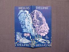 Reiseprospekt Hellas, Delphi, Griechenland, Athen 1956, deutsch