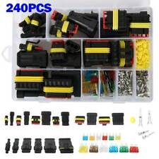 1-6 Pin Way Waterproof Car Auto Electrical Wire Connector Plug Kit + Blade Fuses