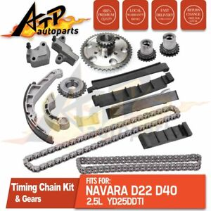 For Nissan Navara D40 2.5 TD YD25DDTi Diesel Timing Chain Conversion Kit w/Gears