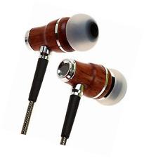 Symphonized NRG 2.0 Auriculares | Genuine Madera Auriculares | In-ear con aislamiento de ruido que