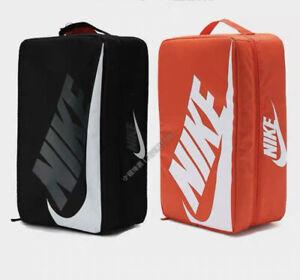 Duo Nike Logo Shoe Box Classic Black And orange Sneaker Shoes Travel Bag Zip