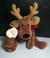 "Hallmark CARDS ""PRANCER"" RUDOLPH Wide Reindeer Plush Christmas 12""! RARE"