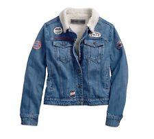 Harley-DavidsonSherpa Fleece Denim Damen Jacke Gr. XL-LADY - Blau, Jeansjacke