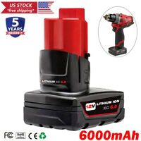 For Milwaukee M12 12V XC 6.0 LITHIUM Compact Battery 48-11-2401 48-11-2402 6.0Ah