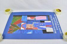 Les Mamelles De Tiresias Hockney Paints The Stage Hayward Gallery 1983 Poster