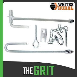 Whites Rural Heavy Duty Long Pack Farm Fence Gate Fitting Set FG4 Drop Latch