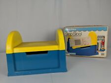 Vintage Fisher Price Mailbox Step Stool Toddler Child Teal Yellow 1984 With Box!