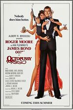 1983 Roger Moore Octopussy original poster. 27in x 41in. Excellent, unfolded!