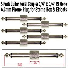 "5-Pack Guitar Pedal Coupler 1/4"" Male Plug Effect Stomp Box 6.3 Audio Phone"