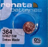 364 RENATA WATCH SR621SW BATTERY FREE SHIPPING Authorized Seller
