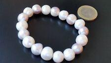 ee460959070c Pulsera de perlas naturales de rio 2 COLORES bisuteria abalorios pulseras  moda