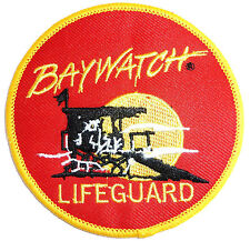 EMBROIDERED BAYWATCH PATCH iron on cloth badge beach lifeguard swimming The Hoff
