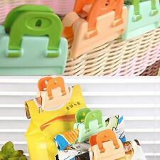 4 pc Keep Fresh Bag Clips Food/vegetable Storage Stay Crisp Packet Peg Seal 6A