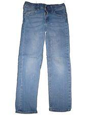 H & M tolle Slim Jeans Hose Gr. 122 silbern glitzernd !!