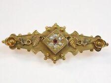 Markenlose Echtschmuck-Broschen & -Anstecknadeln aus Gelbgold Perlen