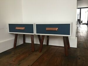 Retro vintage style bedside tables