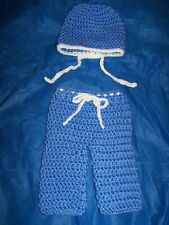 Newborn, Crochet, Doctor/Nurse Hat & Pants Set