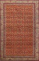 Vegetable Dye Anatolian Turkish Oriental Orange Area Rug Hand-Knotted Carpet 4x5