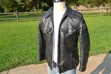 Schott Perfecto Steerhide Motorcycle Police Leather Jacket - Sz 38