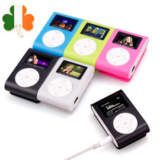 Mini Clip Sport MP3 Player FM Radio LCD Screen Gym Running Support 32GB Micro SD