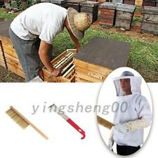 Breathable BeeKeeping Suit Jacket With Veil & Gloves & Bee Hive Brush & Tool Hot