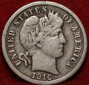 1916 Philadelphia Mint Silver Barber Dime
