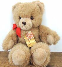 "Vintage Hermann Original Teddy Bear Tan Plush Stuffed Toy West Germany 13"" Tags"