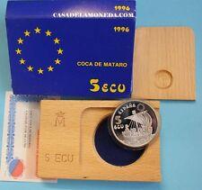 1996  5  ECUS - ECU - COCA MATARO - 1 ONZA - SILVER -  PLATA - ESPAÑA- EUROPA-