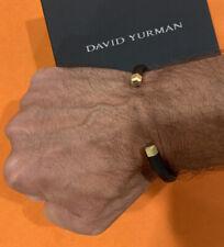 David Yurman 18k Yellow Gold / Rubber Hex Bracelet NEW !!!