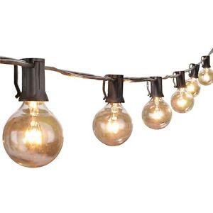 Outdoor String Lights 25 Feet G40 Globe Patio Lights with 27 Edison Glass Bul...