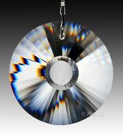 Round Sunburst Facet 40mm Crystal Clear Prism SunCatcher Pendant  1-1/2 inch