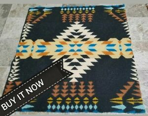 """NEW PENDLETON WOOLEN MILL BLANKET WT. WOOL """"REMNANT"""" FABRIC USA TRIBAL"""