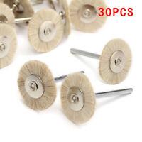 Wheel Brushes Polisher Miniature 50pcs Tools Polishing 2.35mm Goat Tooth Dental