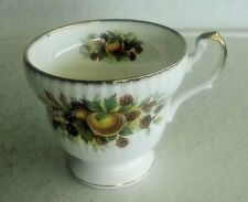 Vintage Queen's Rosina Bone China Footed Tea/Coffee Cup, Peaches & Blackberries