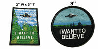 X-Files 2 Pcs Embroidered Patch Iron / Sew-on Souvenir Travel