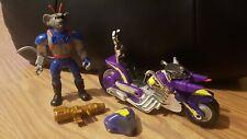 Vintage Biker Mice from Mars Figure Modo With Bike/Helmet/Gun. GALOOB 1993 SET
