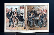 Political Card Game 1884 GOULD FIELD PLAYING POKER BLUFFING JOKER MONOPOLY Puck