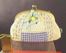 Taj Wood Scherer Kulturbeutel beige blaue Karos Kosmetikbeutel KJ1812-243