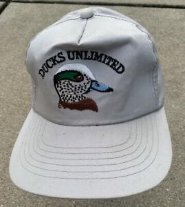 Ducks Unlimited Hat Grey Snapback Cap Dorfman Pacific Mississippi Flyway YoungAn
