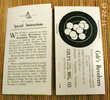 Colt Vintage Special Instructions Manual Vintage Python Dtecetive Special Auto's